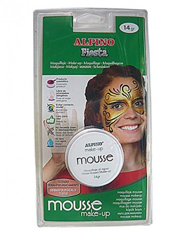 EXPOSITOR 24 TARROS MAQUILLAJE MOUSSE MAKE-UP ALPINO FIESTA