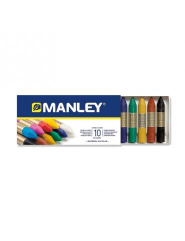 Lápices cera blanda Manley...