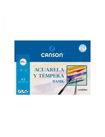 Papel acuarela Canson A3...