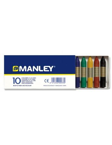 Lapices cera blanda Manley...