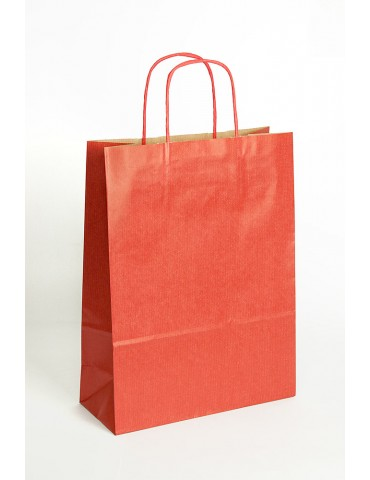 Bolsa Kraft Rojo S 32x24 cm