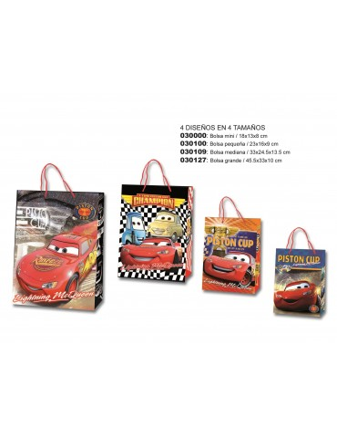 Bolsa papel CARS tamaño L...