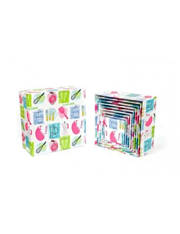 Juego de 10 cajas cuadradas...