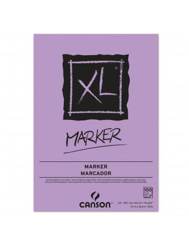 BLOC CANSON XL MARKER A3 70Gr