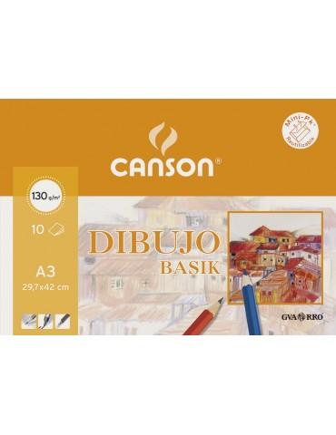 Papel dibujo Canson din a3...