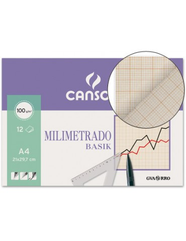 Papel milimetrado Canson 12...